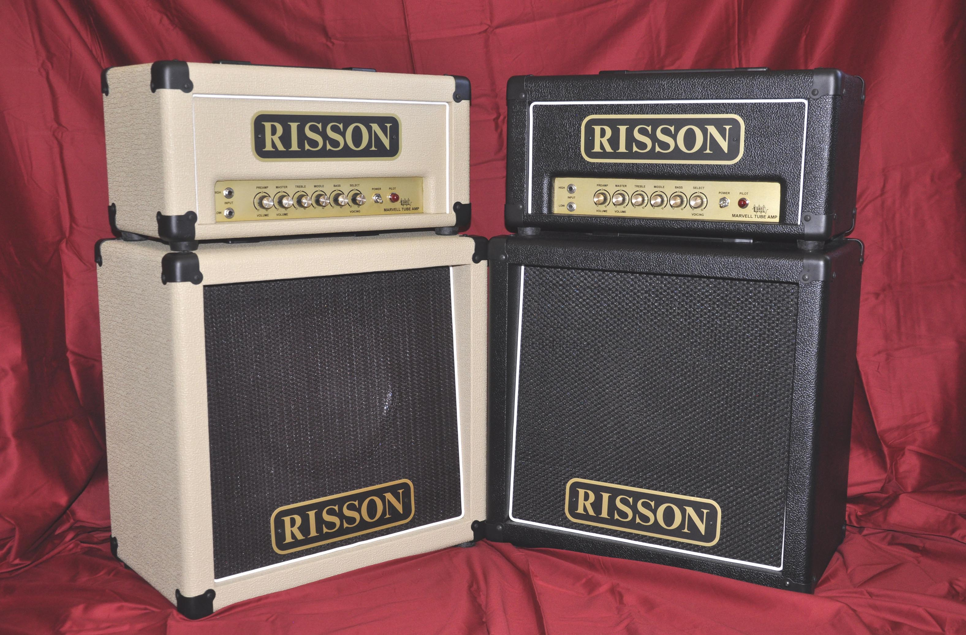 The 18E Marvell Tube Amplifiers in Blonde and in Black